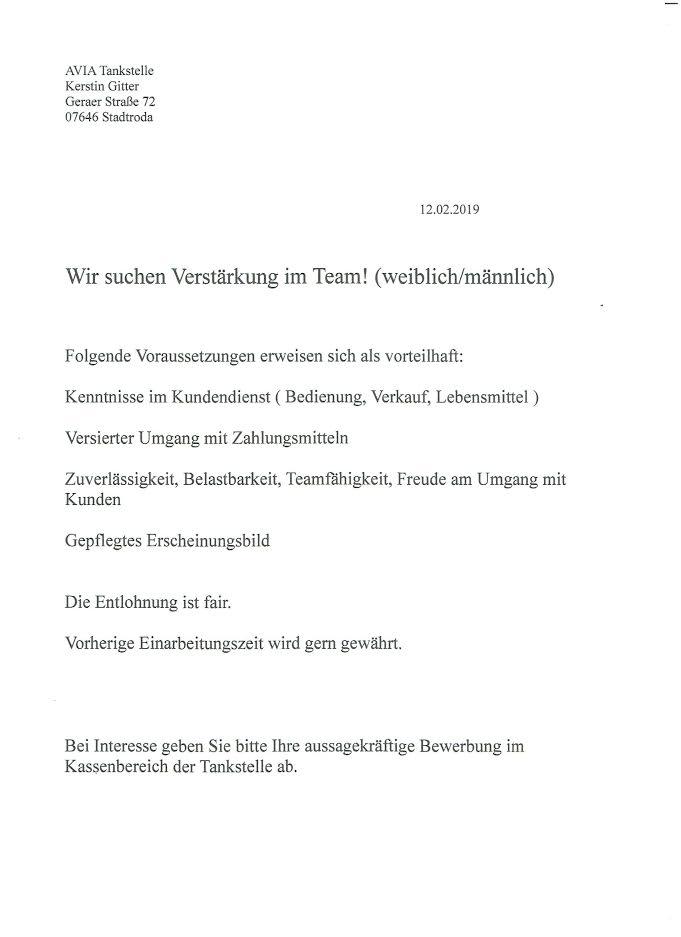 Bewerbung Um Einen Minijob Vorlage Im Online Editor